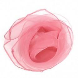 Rózsaszín Vintage 50-es évek Fancy Wrap haj fej nyak nyakkendő szuper könnyű sifon selyem nyak sál