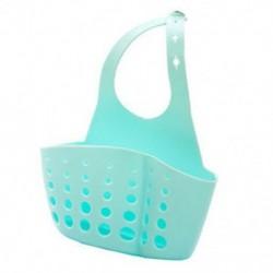Kék Konyhai mosogató szivacs tartó Rack fürdőszoba függő szűrő szervező tároló ajándék