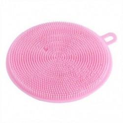 Rózsaszín Többcélú élelmiszer-minőségű antibakteriális szilikon Smart Sponge Dish Kitchen 4.5 &quot