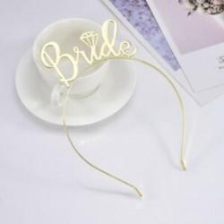 Arany Tiara esküvői menyasszony fejpántok koszorúslány zuhanyzó tyúk párt Bachelorette fél