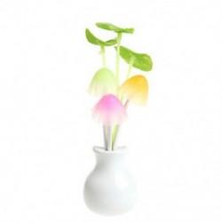 Lotus Leaf US Plug romantikus virág gomba LED éjszakai fényérzékelő baba ágy szoba lámpa dekoráció