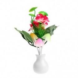 Szilvavirág virág US Plug divat virág gomba LED éjszakai fényérzékelő baba ágy szoba lámpa dekoráció