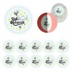 60x EID Mubarak Ramadan Decor Party Candy ajándékdoboz Lable Seal matricák kellékek