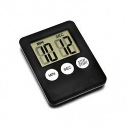 Fekete 1 X Nagy LCD digitális konyhai főzési időzítő Count-Down Up Clock Alarm mágneses