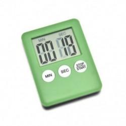 Zöld 1 X Nagy LCD digitális konyhai főzési időzítő Count-Down Up Clock Alarm mágneses
