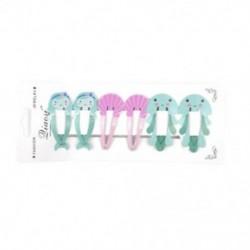 * 4 6Pcs (Medúza   Mernaid   ... 6Pcs lányok baba gyümölcs haj klipek Snaps Hairpin Mini Barrettes haj kiegészítők