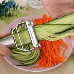 Rozsdamentes acél növényi gyümölcskés vágó rostélyos szeletelő konyhai szerkentyű eszköz