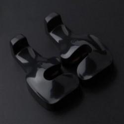 Fekete Univerzális mini műanyag autó hátsó ülő horog erszényes táska lógó fogas tartó 2db