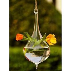 Vízcsepp alakú 1 x átlátszó függő üvegbab labdák gyertya Tealight tartó fél esküvői dekoráció
