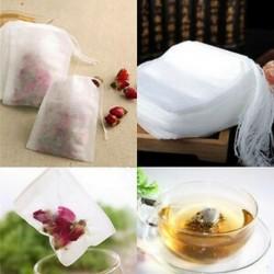 100X nem szőtt üres teászsák húros hegesztési szűrőpapír Herb laza teászsák