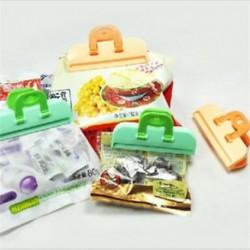 4x konyhai tároló táska Clip Seal Szervező Friss Élelmiszer Chips Snack Bag klipek
