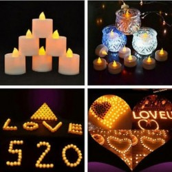 6 Flameless LED Tealight villogó tea fény gyertya karácsonyi esküvői akkumulátor