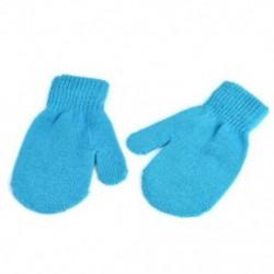 Kék-tó Téli kesztyű kisgyermek gyerekek baba fiú lány aranyos puha kötés ujjatlan meleg kesztyű
