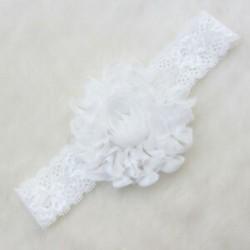 fehér Stretch baba gyerekek aranyos csipke virág fejfedők haj dekoráció fejfedő fejpánt szép