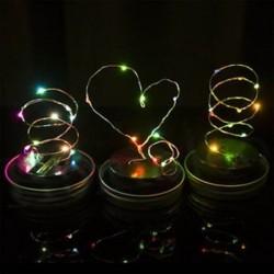 Színes 1 csomag LED tündér fény napelem mason Jar fedél fények színváltó kert dekoráció