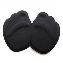 Fekete Magassarkú lábpárnák Elülső csúszásgátló talpbetét Légáteresztő cipő Pad Soft Sole