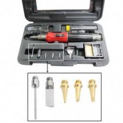 5Pcs / készlet HS-1115K 5in1 Pro Butángáztöltő vas hegesztési készlet Torch Pen Tool