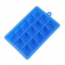 Kék Népszerű 15 rács kreatív jégkocka formájú szögletes szilikon jégtálca készítő