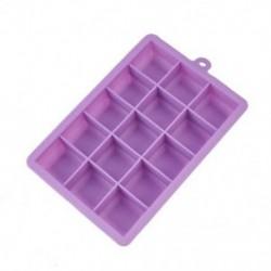 Lila Népszerű 15 rács kreatív jégkocka formájú szögletes szilikon jégtálca készítő
