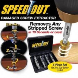 4 in 1 törött csavar károsodáscsavar eltávolító extrakciós fúrószárak Easy Out Stud Set