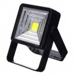 Fekete 15W hordozható napelemes LED újratölthető izzó fény udvari kemping lámpa