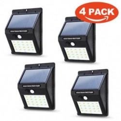 4 Csomag 20 LED 48/90/144 LED napelemes tápegység Kerti lámpa Spotlight gyep tájképek vízálló