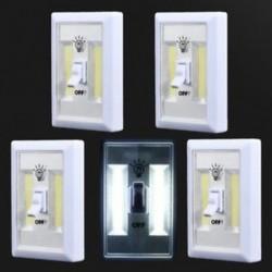 5 CSOMAGOK 5 PACK COB LED fali kapcsoló Vezeték nélküli szekrény Akkumulátoros éjszakai fény akkumulátor működik
