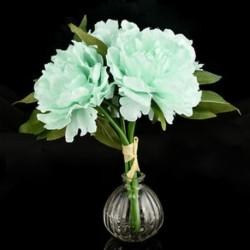 Kék Mesterséges hamis bazsarózsa selyem virág menyasszonyi hortenzia Otthon esküvői kert dekoráció Új