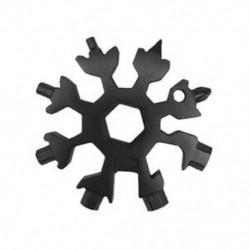 Fekete Hópehely Multi Tool Snow Flake 19-1 acél alakú lapos kereszt háztartási kéziszerszám