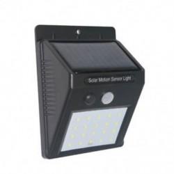1 Csomag 20 LED napenergia Power PIR mozgásérzékelő fali fény Kültéri kerti lámpa vízálló