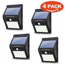 4PACK 20 LED napenergia Power PIR mozgásérzékelő fali fény Kültéri kerti lámpa vízálló