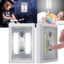 2 CSOMAGOK 5 PACK COB LED fali kapcsoló Vezeték nélküli szekrény Akkumulátoros éjszakai fény akkumulátor működik