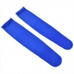Kék Férfi szexi nylon nyomon követhetetlen selymes térd magas zokni viselni puszta háló harisnya Új