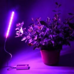Új spektrumú USB LED virágnövény növekszik az üvegházhatást okozó hidroponikus cserépben