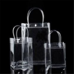 17 * 23 * 7 cm Női átlátszó tiszta Tote Gft táska erszényes váll táska PVC méret S / M / L