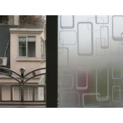 Négyzet PVC vízálló adatvédelem Matt homlokzati hálószoba fürdőszoba ablak matrica üvegfólia
