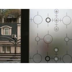 Kör 45CMx2M PVC vízálló adatvédelmi hálószoba Fürdőszoba Fagyott ablakfilm matrica