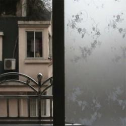 Blossoms 45CMx2M PVC vízálló adatvédelmi hálószoba Fürdőszoba Fagyott ablakfilm matrica