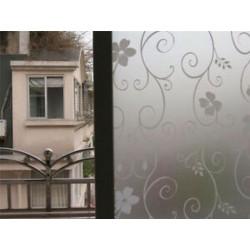 Fehér kovácsoltvas virág 45CMx2M PVC homályos adatvédelem Vízálló hálószoba fürdőszoba ablakfólia matrica