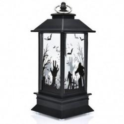 * 2 2018 Halloween Vintage sütőtök kastély lámpa lámpa fél függő dekoráció LED fény