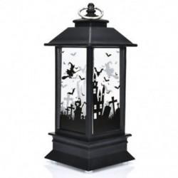 * 1 Halloween Vintage Pumpkin Castle Könnyű lámpa fél függő dekoráció LED lámpa Új