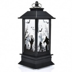 * 2 Halloween Vintage Pumpkin Castle Könnyű lámpa fél függő dekoráció LED lámpa Új
