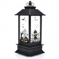 * 3 Halloween Vintage Pumpkin Castle Könnyű lámpa fél függő dekoráció LED lámpa Új