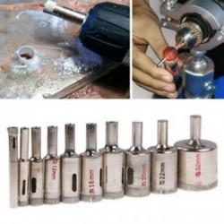 10db / készlet 6mm-32mm gyémánt szerszám fúrószárak lyukfűrész készlet üvegkerámia márványhoz