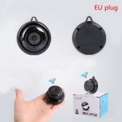 EU Plug Mini vezeték nélküli WIFI IP kamera HD 1080P intelligens otthoni biztonsági kamera éjszakai látás