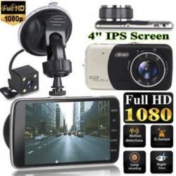 4`` Dual Lens Camera 1080P HD autós DVR jármű videó műszerfal kamera felvevő G-érzékelő