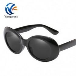 Fekete keret   szürke lencse Unisex kerek záró szemüveg ovális napszemüveg tükrözött divat hűvös retro szemüveg