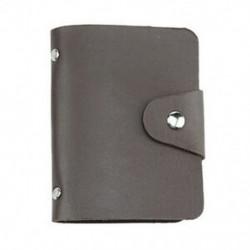 Kávé Férfi karcsú PU bőr azonosító hitelkártya tartó zseb tok pénztárca pénztárca 24 kártya