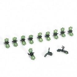 Zöld 12PCS sok lány baba strasszos kristály virág mini haj karmok klipek bilincsek ajándék