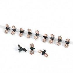 Pezsgő 12PCS sok lány baba strasszos kristály virág mini haj karmok klipek bilincsek ajándék